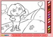 Dora coloriage 2