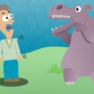 Hippopotame furieux