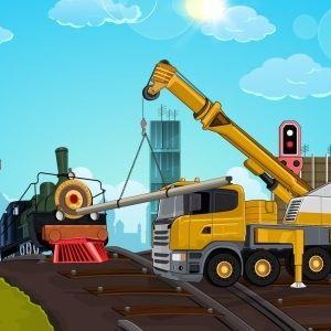 Railroad crane parking