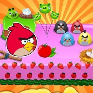 Angry bird themed cake